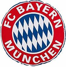FC Bayern Fan Rund Kissen Rekodmeister Logo 45 cm