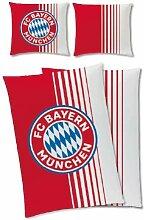 FC Bayern München Bettwäsche 160x200cm rot/Weiss