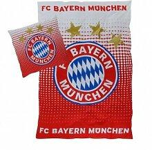 FC Bayern München Bettwäsche Logo Rot - Weiß
