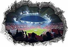 FC Bayern München Wandtattoo 3D für Tapete |