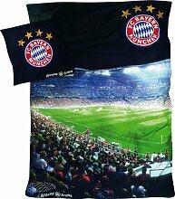 FC Bayern Sparpaket 3-tlg. Renforcé Spannbettlaken anthrazit Größe 135x200 cm (80x80 cm)