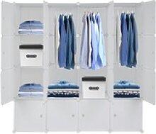 FCH Kleiderschrank Regalsystem Kleiderschrank