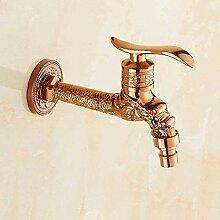 fcndsfk Wasserhahn Garten Rose Gold Kaltwasser
