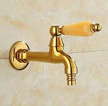fcndsfk Wasserhahn Golden Messing Garten