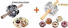 FCOZM 2 Set Metall Drehbare Donut Cutter Maker