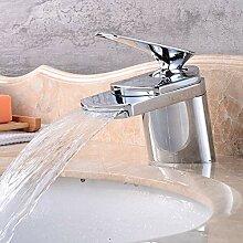 FCX-SHOWER Chrom Wasserfall Wasserhahn Badarmatur