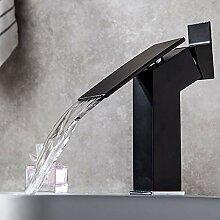 FCX-SHOWER Schwarz Wasserhahn Wasserfall Bad