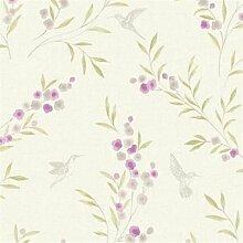 fd22036–Maison Chic Floral Lila/elfenbeinfarben/grau Fine Decor Tapete