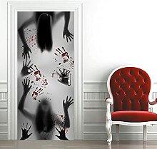 FDASLJ Türaufkleber 3D Tür Wandbild 77x200CM