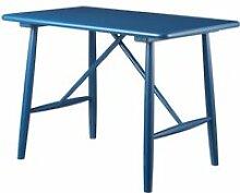 FDB Møbler - P10 Kindertisch, Birke blau lackiert