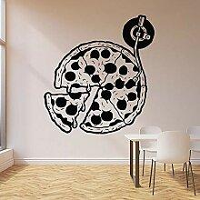 fdgdfgd Interessante kreative Pizza Wandaufkleber