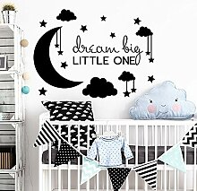 fdgdfgd Mond Wandaufkleber Wolken und Star Dream