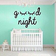 fdgdfgd Spaß kreative Gute Nacht Wandaufkleber