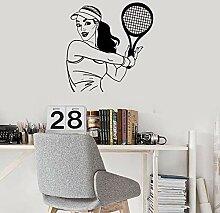 fdgdfgd Spaß kreative Tennis Wandaufkleber