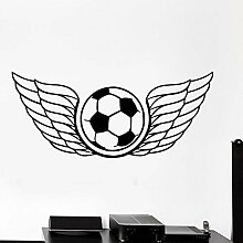 fdgdfgd Spaß kreative Wandaufkleber Fußball