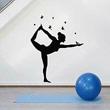 fdgdfgd Spaß kreative Yoga Pose Wandaufkleber