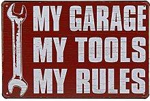 Fdgdgf Retro Wanddekoration Garage Regel Aufkleber
