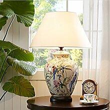 FDH Vogel Handbemalte Keramik Crackle Lampe, 50 *