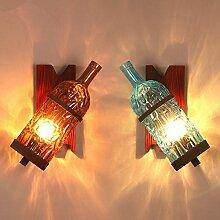 FDH Wandleuchte industrielle Loft Dekoration Wein Flasche Wand Lampen, 111 V ~ 240 V, orange