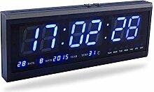 Fdit groß Digital LED Uhr mit Zeit Kalender Datum