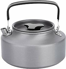 Fdit Tragbare 1,1 l Aluminium Teekanne Kaffee
