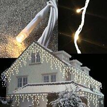 FDL Snowmotion Lichterkette Eisregen kaltweiss 8