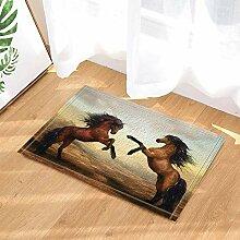 fdswdfg221 Animal Decor Zwei Pferde Spielen auf
