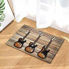 fdswdfg221 Rock Music Decor Bassgitarren auf Holz
