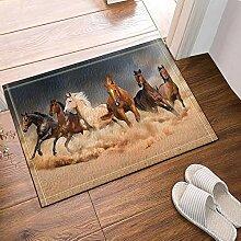 fdswdfg221 Sechs Running Horse in grau Bad
