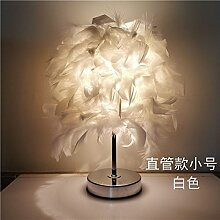 Feather crystal Lampe, 33 * 25 cm weiß Dimmer