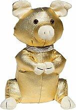 Febland Golden Pig Türstopper, Gold