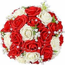Febou Hochzeitsstrauß Brautjungfernstrauß