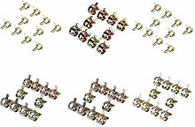 Feder Clips - SODIAL(R)60 x Federklemme Kraftstoffschlauch Luft Rohrschellen Fastener (7mm, 10mm, 11mm, 14mm, 16mm, 17mm)
