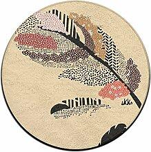 Feder Kreis Shaggy Teppich Runde Form für Schlafzimmer Wohnzimmer Teppich/Fußmatte/Anti-Rutsch