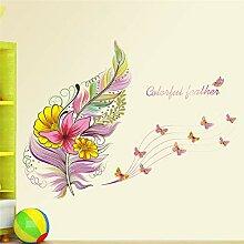 Feder Schmetterling Wandaufkleber Aufkleber Kunst
