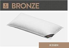 Federkissen, Bronze, SPESSARTTRAUM weiß, 80x80 cm