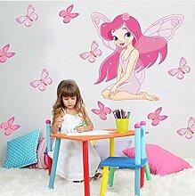 Fee Mädchen Schmetterling Wand Vinyl abnehmbare