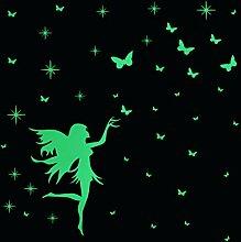 Fee Sterne und Schmetterling Leuchten