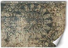 Feeby Fototapete Vlies Ornament 400x266 cm Beige