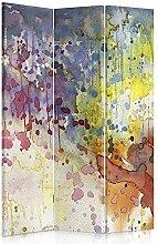 Feeby Frames. Raumteiler, Gedruckten auf Canvas, Leinwand Wandschirme, dekorative Trennwand, Paravent einseitig, 3 teilig (110x180 cm), ABSTRAKTION, WATERCOLOUR