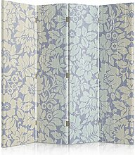 Feeby Frames. Raumteiler, Gedruckten auf Canvas, Leinwand Wandschirme, dekorative Trennwand, Paravent beidseitig, 4 teilig (145x180 cm), BLUMEN, TAPETEN, DEKORATION, VIOLETT
