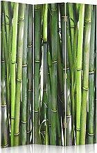 Feeby Frames. Raumteiler, Gedruckten auf Canvas, Leinwand Wandschirme, dekorative Trennwand, Paravent einseitig, 3 teilig (110x180 cm), BAMBUS, PFLANZE, NATUR, GRÜN