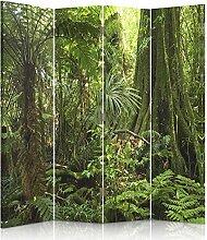 Feeby Frames. Raumteiler, Gedruckten auf Canvas, Leinwand Wandschirme, dekorative Trennwand, Paravent einseitig, 4 teilig (145x180 cm), WALD, BAUM, NATUR, GRÜN