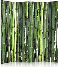 Feeby Frames. Raumteiler, Gedruckten auf Canvas, Leinwand Wandschirme, dekorative Trennwand, Paravent einseitig, 4 teilig (145x150 cm), BAMBUS, PFLANZE, NATUR, GRÜN