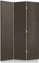 Feeby Frames. Textilwandschirme, dekorative Trennwand, Paravent beidseitig, 3 teilig (110x180 cm), STOFF, GLAMOURÖSE, MODERN, GRAPHIT