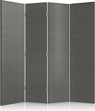 Feeby Frames. Textilwandschirme, dekorative Trennwand, Paravent beidseitig, 4 teilig (145x150 cm), MODERN, GEPOLSTERT, MELANGEMUSTER, GRAFIT, FÜR SCHLAFZIMMER
