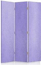 Feeby Frames. Textilwandschirme, dekorative Trennwand, Paravent einseitig, 3 teilig (110x150 cm), LAVENDEL, STOFF, GLAMOURÖSE, MODERN, VELOURSLEDERIMITAT