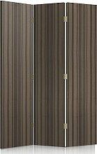 Feeby Frames. Textilwandschirme, dekorative Trennwand, Paravent einseitig, 3 teilig (110x180 cm), FÜR WOHNZIMMER, MODERN, STREIFEN, GRAU, BEIGE, TEXTIL