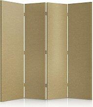Feeby Frames. Textilwandschirme, dekorative Trennwand, Paravent einseitig, 4 teilig (145x180 cm), STOFF, GLAMOURÖS, MODERN, OLIVE, VELOURSLEDERIMITAT