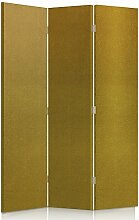 Feeby Frames. Textilwandschirme, dekorative Trennwand, Paravent beidseitig, 3 teilig (110x180 cm), KARAMELL, STOFF, GLAMOURÖSE, MODERN, VELOURSLEDERIMITAT